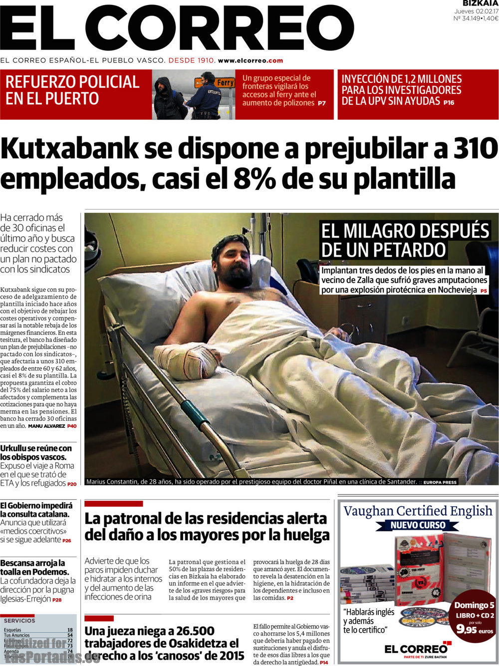 Portada El Correo_20170202