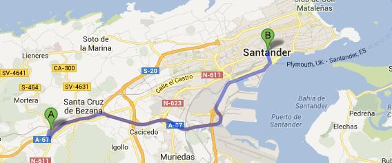 Desde Santander a Clínica Mompía